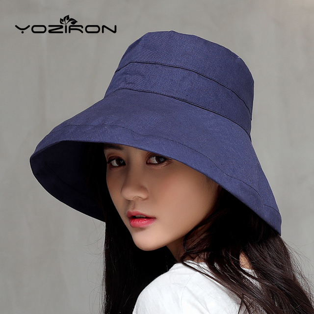 dce065ebd44 US $6.23 45% OFF|Fashion Casual Summer Ladies Hats Women Solid Polyester  Sun Visor hat Sun UV Protection Women Hats Cap-in Women's Sun Hats from ...