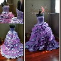 Colorful Orchid and Lilac Purple Wedding Dress Ball Gown Spaghetti Straps Cascading Ruffle Gothic Plus Size Bridal wedding Gowns