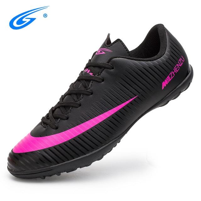 2253bf59e3 ZHENZU chuteira futebol original tenis futsal chuteiras futebol soccer  shoes Eur tamanho 35-44 Preço