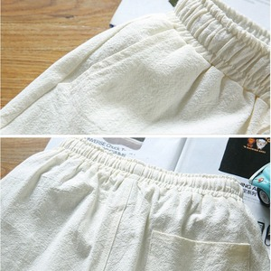 Image 5 - בתוספת גודל גדול 9XL 10XL קיץ גברים פשתן קצר שרוול חולצות ומכנסיים קצרים כותנה 8XL יפן סגנון V צוואר tees 52 54 62 64 66 68 70