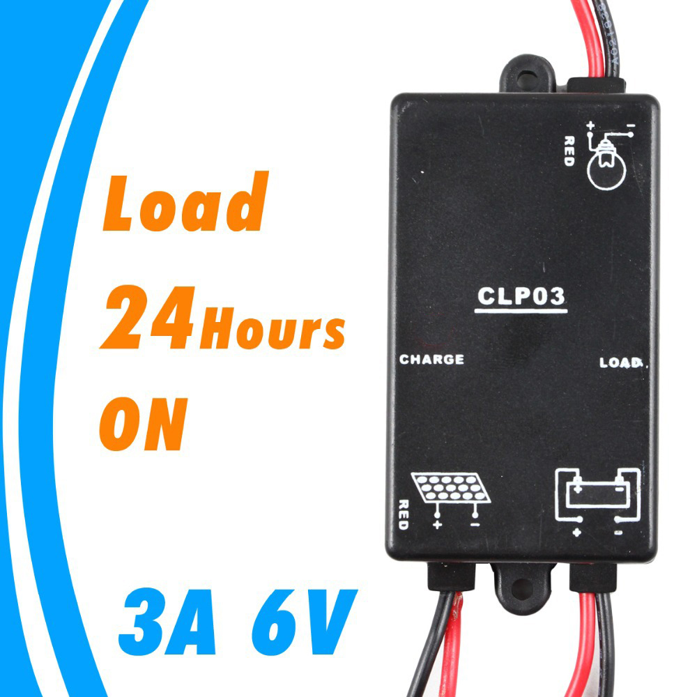 Mini 3A 6V Solar Charge Controller Load on 24hours charge and discharge PV battery Charge Regulator 3 Amps CMP-03 3a 6v 12v mini solar charge and discharge controller waterproof load working 24 hours