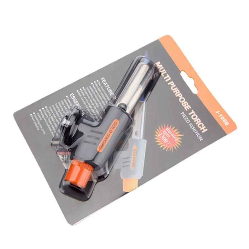 High Quality Gas Torch Flamethrower Butane Auto Ignition Camping Welding BBQ Outdoor Travel Airbrush