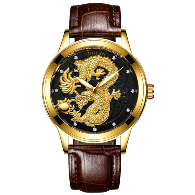 Creative Dragon Luxury Fashion Steel Strap Watch Men Quartz-watch Casual Male Sports Business Wristwatch Clock Relogio Masculino
