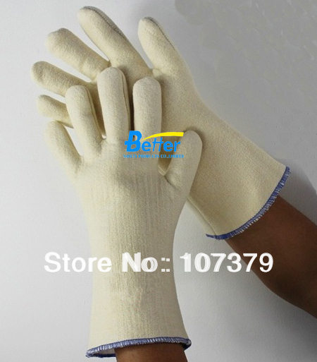 New Welding Safety Glove 280 Centigrade Degree 100% Aramid Fiber Caston Heat Resistant Work Glove 932f high temp heat resistant welding gloves bbq oven firebreak aramid fiber work glove