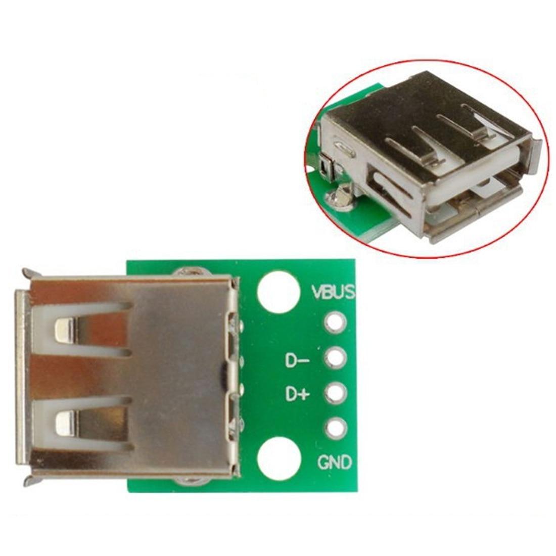 10pcs Mini Micro Usb To Dip 254mm Adapter Connector Module Board Db9 Wiring Diagram Panel Female 4