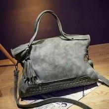 BEINISHI Rivet Nubuck Leather women bag Fashion Tassel Messenger Bag Vintage Shoulder Bag Larger Top-Handle Bags Mummy Package