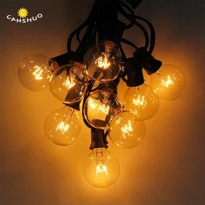 Outdoor String Lights White: Patio Lights G40 Globe Party Christmas String Light Warm