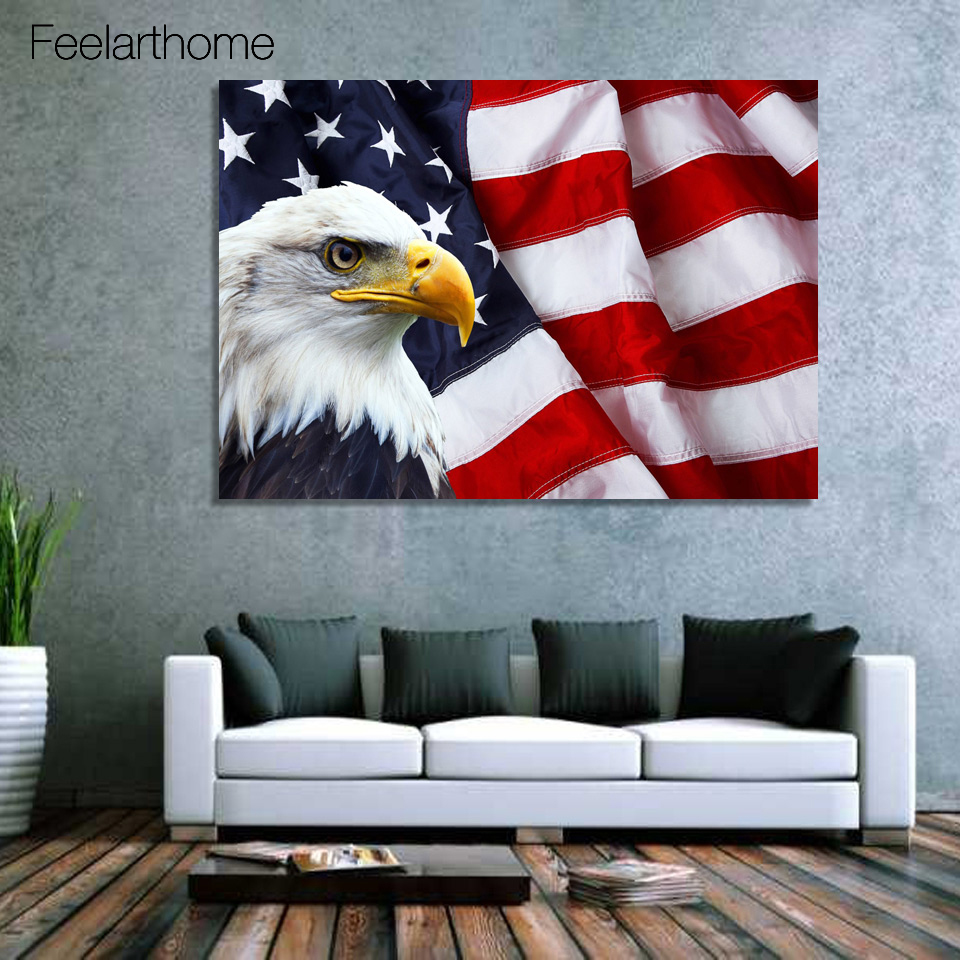 Compare prices on picture american eagle online shopping for Eagle decorations home
