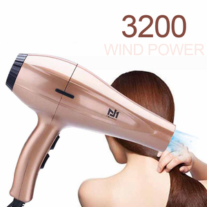 Image 2 - High Power Hair Dryer for Hairdresser Professional Negative Ion Blow Dryer Hot/Cold Wind with Air Collecting Nozzle D35