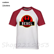 NEW Rebel Jurassic Park Star Wars Men t-shirt tops tee strange things rick and morty riverdale camisetas hombre clothing t shirt(China)