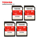 Original TOSHIBA SD Memory Card 90MB/s16GB 32GB SDHC Card SD 64GB 128GB SDXC Card  Flash For Digital SLR Camera Camcorder DV