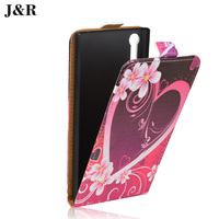 J&R for Sony Xperia XZ Case PU Leather Painting phone Cover for Sony Xperia XZ Dual F8331 F8332 Vertical Flip Cover Phone bag