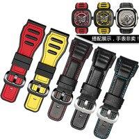 UYONG 28mm Red yellow Rubber Watchband men's women's rubber Waterproof silicone bracelet watch strap