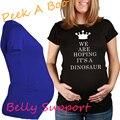 2016 impresión linda ropa para mujeres embarazadas 100% algodón de maternidad camisa de manga envío gratis ropa de maternidad