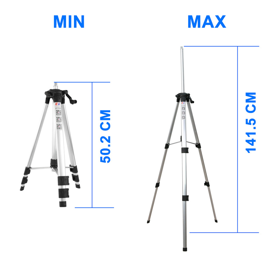 Tools : KaiTian 3D Laser Level Tripod 12Lines Self-Leveling Horizontal amp  Vertical Powerful Remote Control Green Line Nivel Laser Receiver