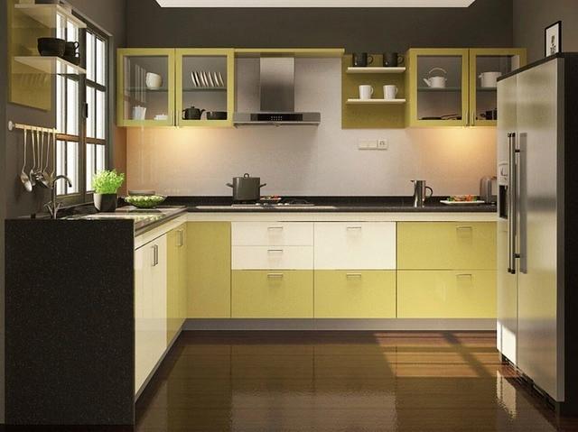2017 contemporáneo cocina color blanco moderno alto brillo lacado ...