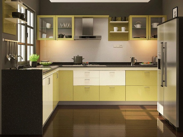 2017 Warna Modern Kontemporer Dapur Kabinet Putih Tinggi Gloss Lacquer Kitchen Furnitures L1606043