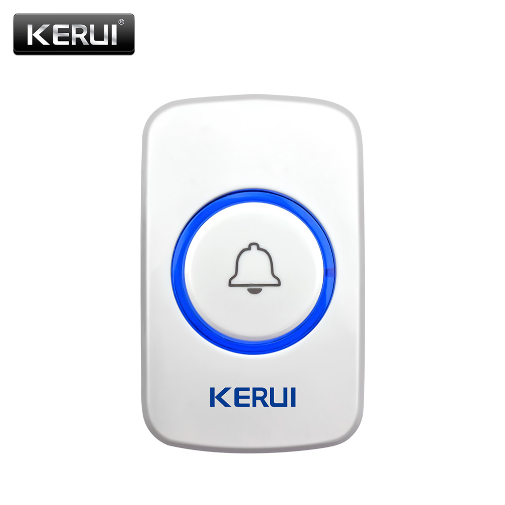 KERUI Wireless Doorbell Smart Receiver Home Gate Security Doorbell Emergency Button For Home Alarm System Security System 433MHz