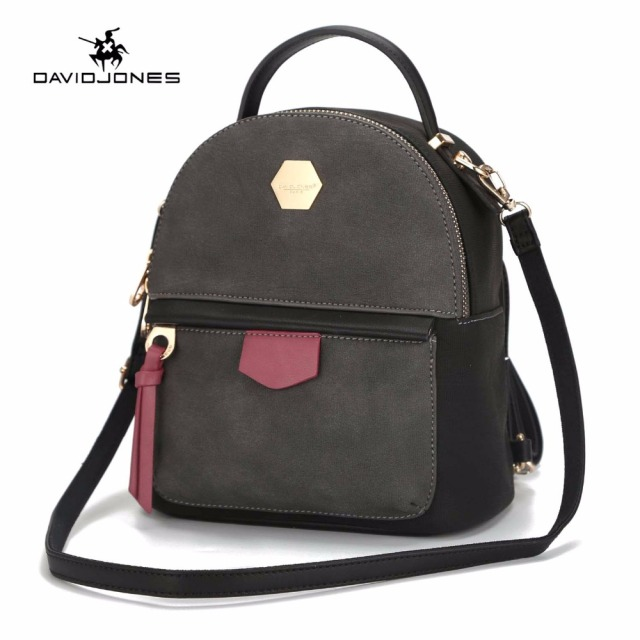 654026fa98 DAVIDJONES women shoulder bags faux leather female backpacks mini lady  vintage softpack girl brand school bag drop shipping