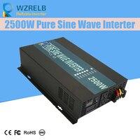 Off Grid Pure Sine Wave Solar Inverter 24V 220V 2500w Car Power Inverter 12V DC to 100V/120V/240V AC Converter Power Supply