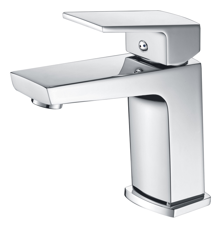 Chrome Single hole Bathroom Square Sink Faucet One Hole/Handle Mixer Tap Deck mounted newly solid brass bathroom widespread waterfall basin sink faucet chrome finished mixer tap one handle one hole deck mounted