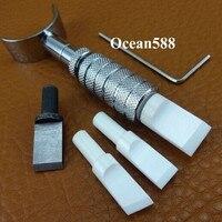 3 Nano Ceramiczne Ostrze Regulowana Obrotowa Carving knife Leather craft Zestaw Narzędzi Łożysko Kulkowe C