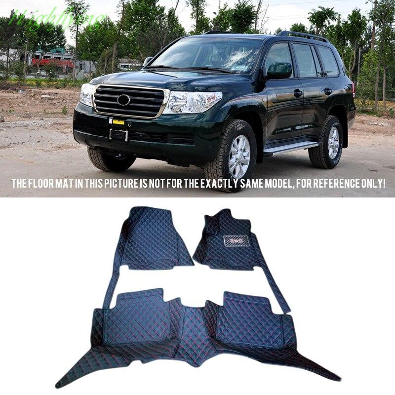 Inner Front&rear Floor Mats & Carpets Foot Pads For Toyota Land Cruiser J200(V8) 2008 2009 2010 inner floor mats