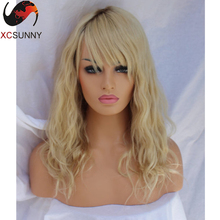 8A 613 Full Lace Human Hair Wigs Blonde Lace Front Human Hair Wigs With Bangs 1b/613 Full Lace Human Hair Wigs Curly With Bangs
