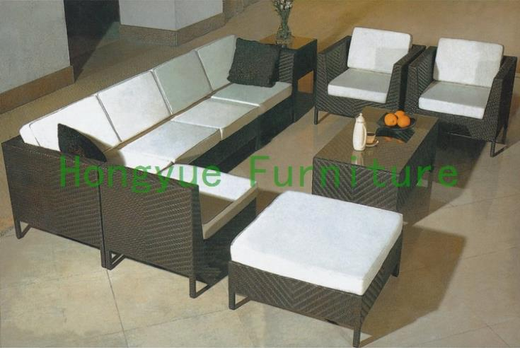 New pe rattan living room sectional sofa,living room furniture