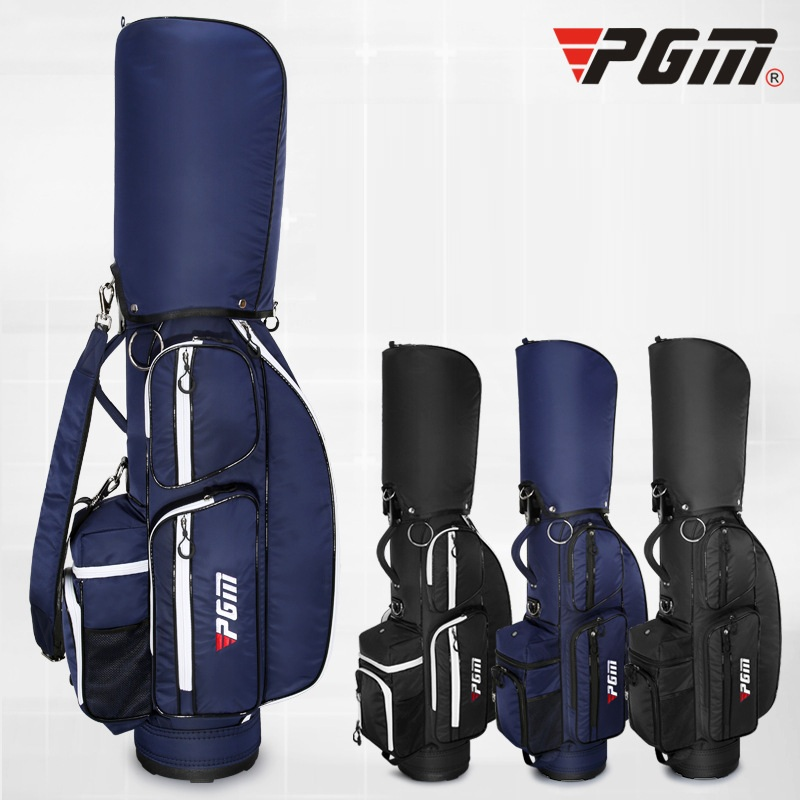 все цены на Pgm Golf Standard Bag Adjustable Men Golf Air Bag Large Capacity Ball Bag Multi-Function Travel Package Can Hold 5 Clubs D0479 онлайн