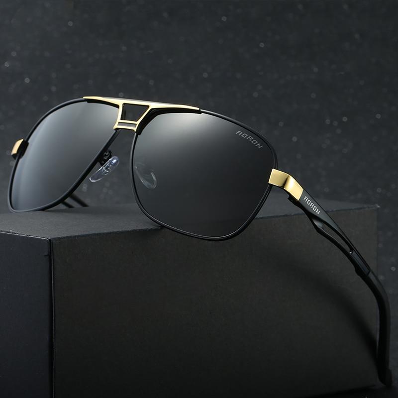 cb287bf18cca3e Chaude Carré lunettes de Soleil Homme De Mode Polarisées Conduite Lunettes  De Soleil pour Hommes Concepteur de Marque Lunettes de Soleil Oculos  Polarizado ...