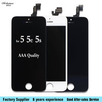 Black White Color In Stock 10PCS LOT LCD For IPhone 5 LCD Display Touch Screen Digitizer