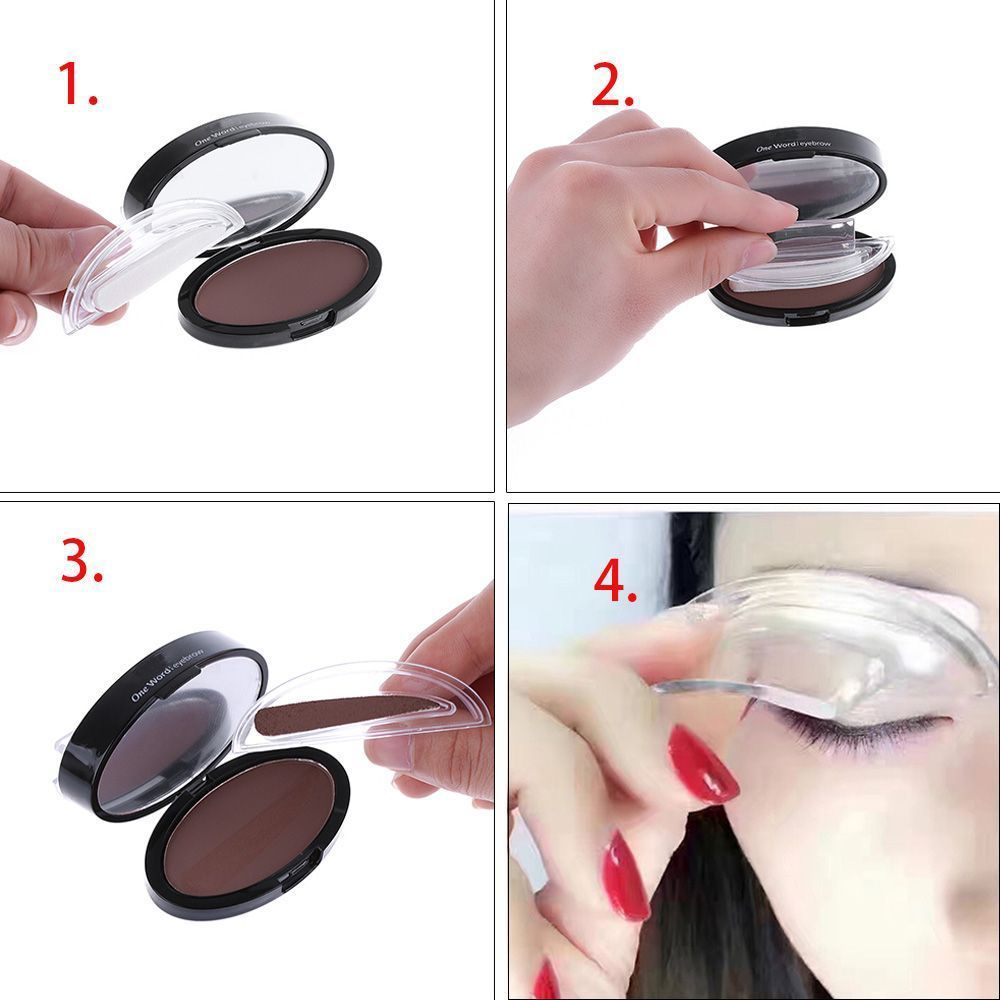Fashion Eyebrow Template Stamp Svamp Stencils Eye Makeup 3 Natural - Smink - Foto 2