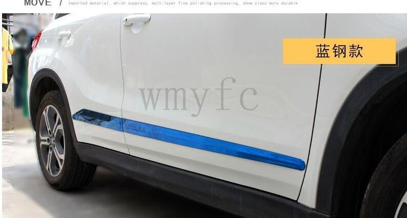 Автозапчасти крышка автомобиля 304 Корпус из нержавеющей стали отделкой в полоску двери анти-руб подходит для 2015-2017 Suzuki Vitara автомобиль Стайл...