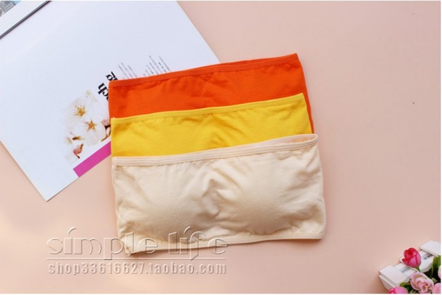 GOPLUS New Sexy Strapless Crop Top Bra Bandeau Brassiere Tube Tops Candy Colors 14 colors M0156