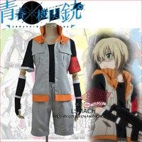 AoharuxMachinegun Hotaru Tachibana Battle Suit Fight Uniform Costume Garment jacket +pants+shirt+armbands+wristbands+gloves
