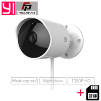Original YI 1080P HD Outdoor Security Camera IP Waterproof Cloud Cam Wireless Night Vision Security Surveillance System