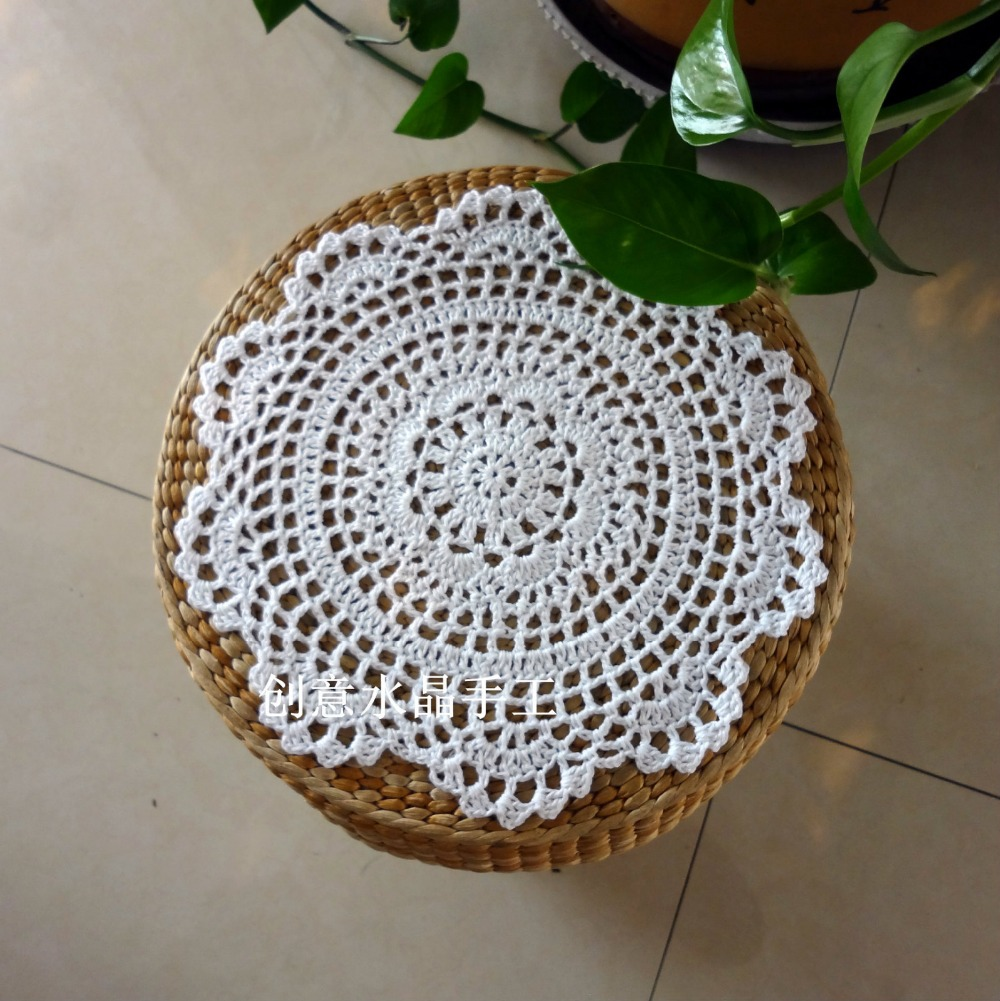 Zakka Fashion 12 Piclot Cotton Crochet Lace Doilies With Flower For