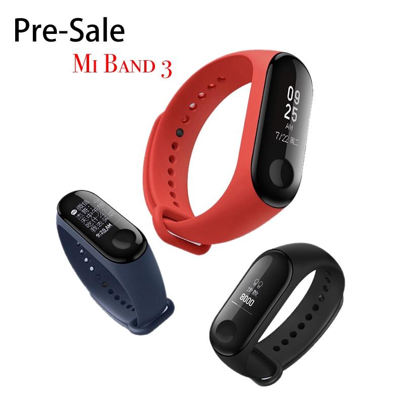 "Original Xiao mi banda 3 pre-venta 0,78 ""OLED pantalla táctil grande 2018 nuevo Smart Wristbands pulsera"