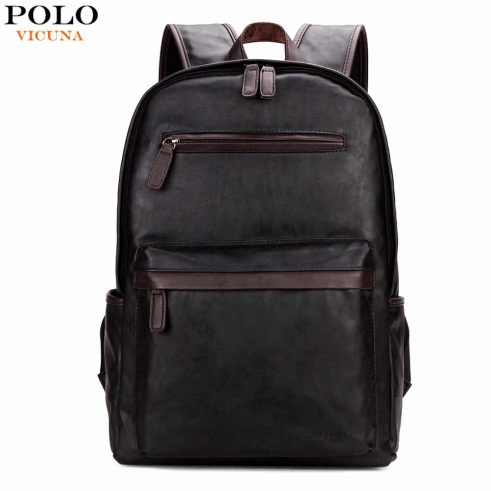 Викуньи поло брендовые кожаные для мужчин s ноутбук рюкзак повседневное  Daypacks для колледж высокое ёмкость модный 3dcf6274087