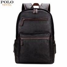 50e387ca1af8e VIKUNJA POLO Marke Leder Herren Laptop Rucksack Lässig Daypacks Für College  High Kapazität Trendy Schule Rucksack