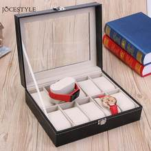 High Quality PU Leather 10 Slots Wrist Watch Display Box Holder Storage Jewelry Dispay Watch Box Case(China)