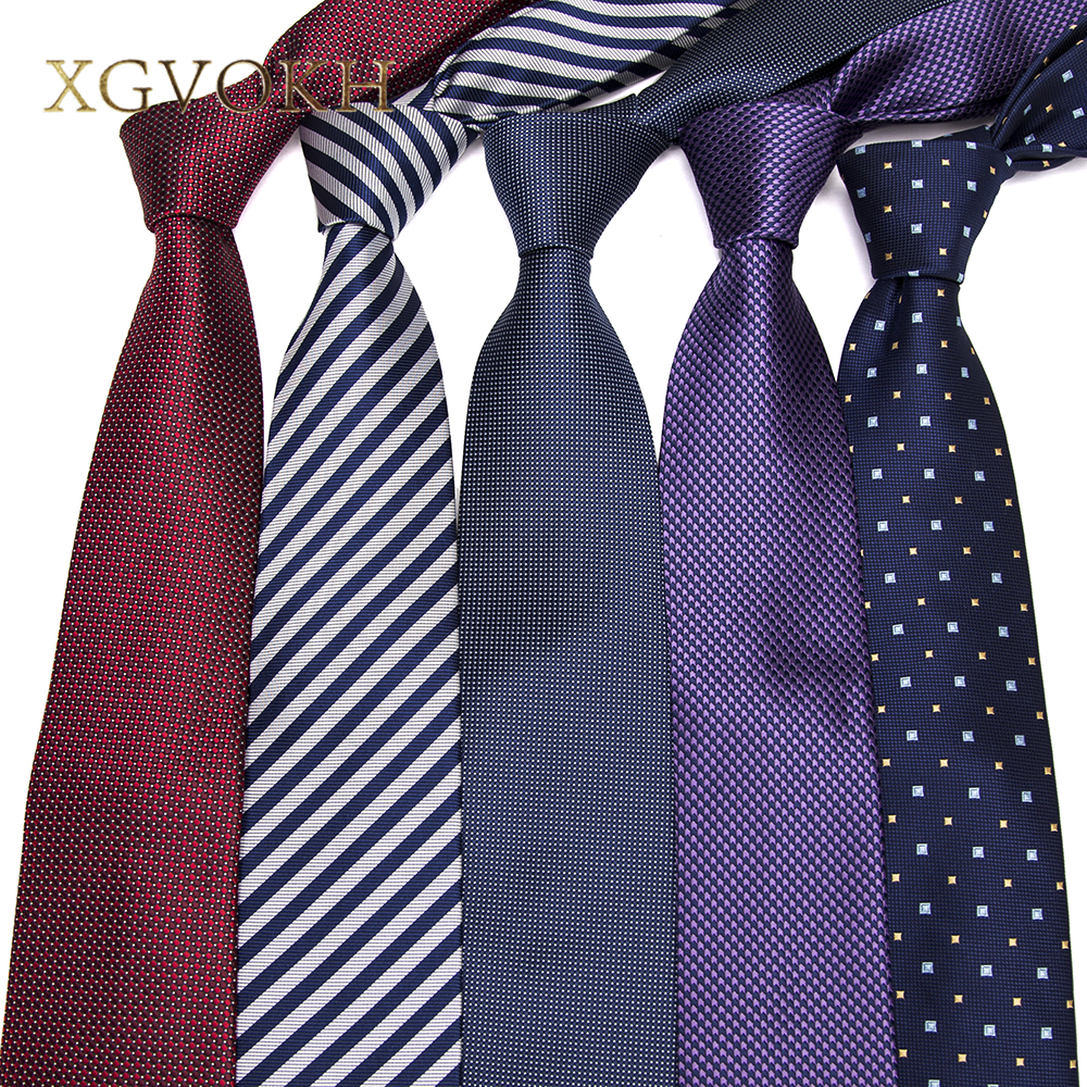 XGVOKH 1200 Needles Neckties Striped Ties For Men 8cm Width Classic Mens  Corbatas Gravata Business Party Neckwear Polyester Tie