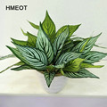 HMEOT Künstliche topfpflanzen/neue stil simulation bambus blätter garten balkon hause dekoration blumen Fotografie requisiten