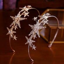 Повязка на голову с кристаллами в стиле барокко