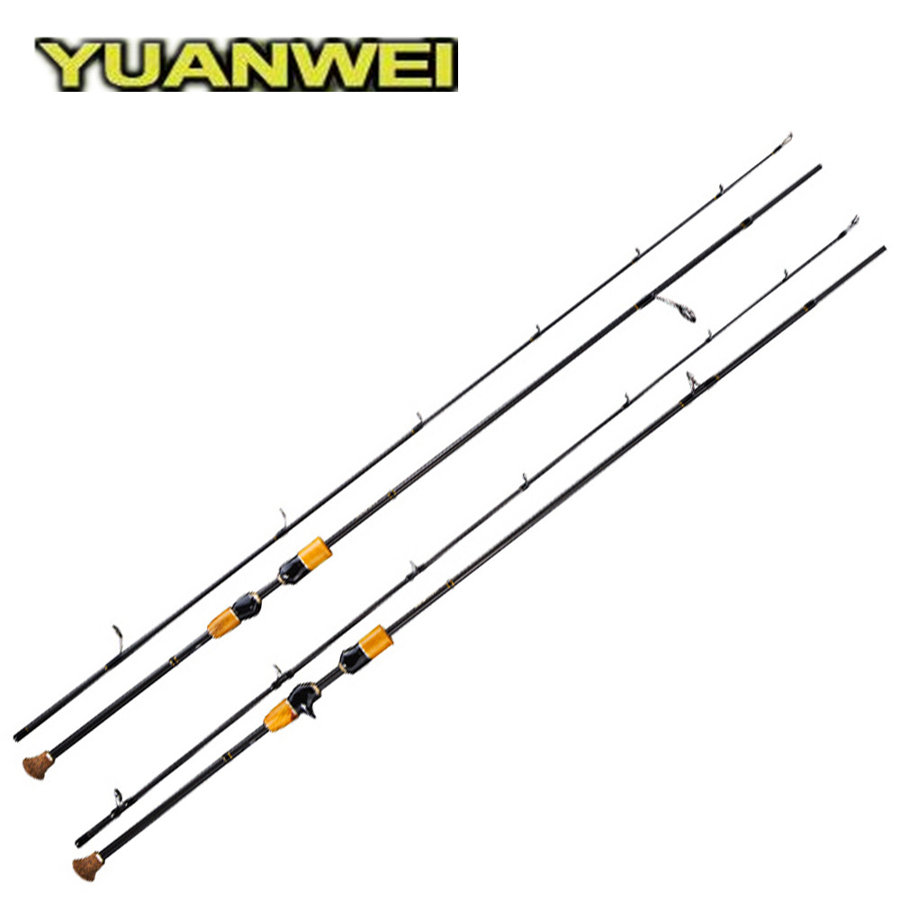 YUANWEI 2.4m Spinning Casting Fishing Rod 2 Sections FUJI Guide Ring Carbon M Power Fishing Rod Vara De Pesca Lure Rod Peche