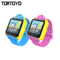 TORTOYO Q730 3 グラムスマート子供腕時計の電話正確な Gps 測位タッチスクリーン SOS 通話音声チャット抗失わギフト -