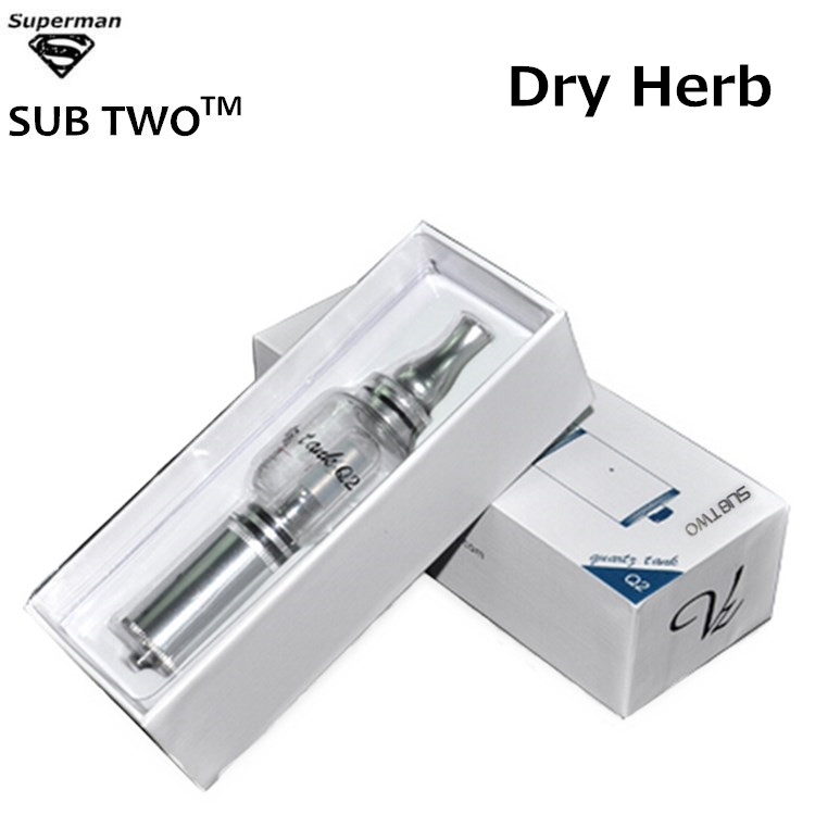 Hot selling Q2 water pipe dry herb high quality vaporizer glass atomizer Q2 pyrex glass water bubbler e cigarette vape pen kit