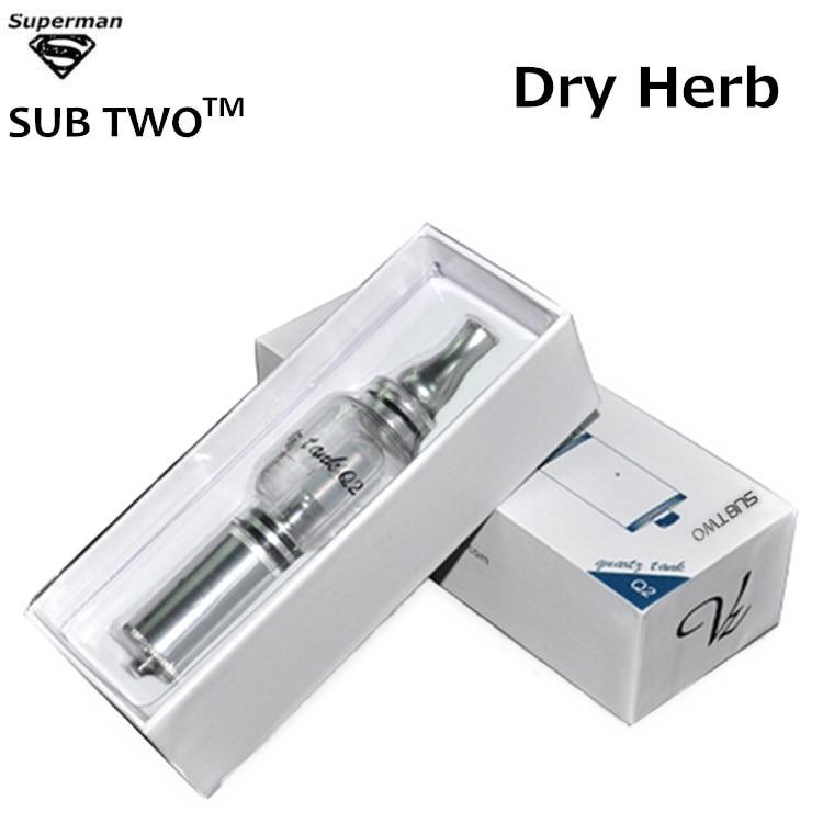все цены на Hot selling Q2 water pipe dry herb high quality vaporizer glass atomizer Q2 pyrex glass water bubbler e cigarette vape pen kit онлайн