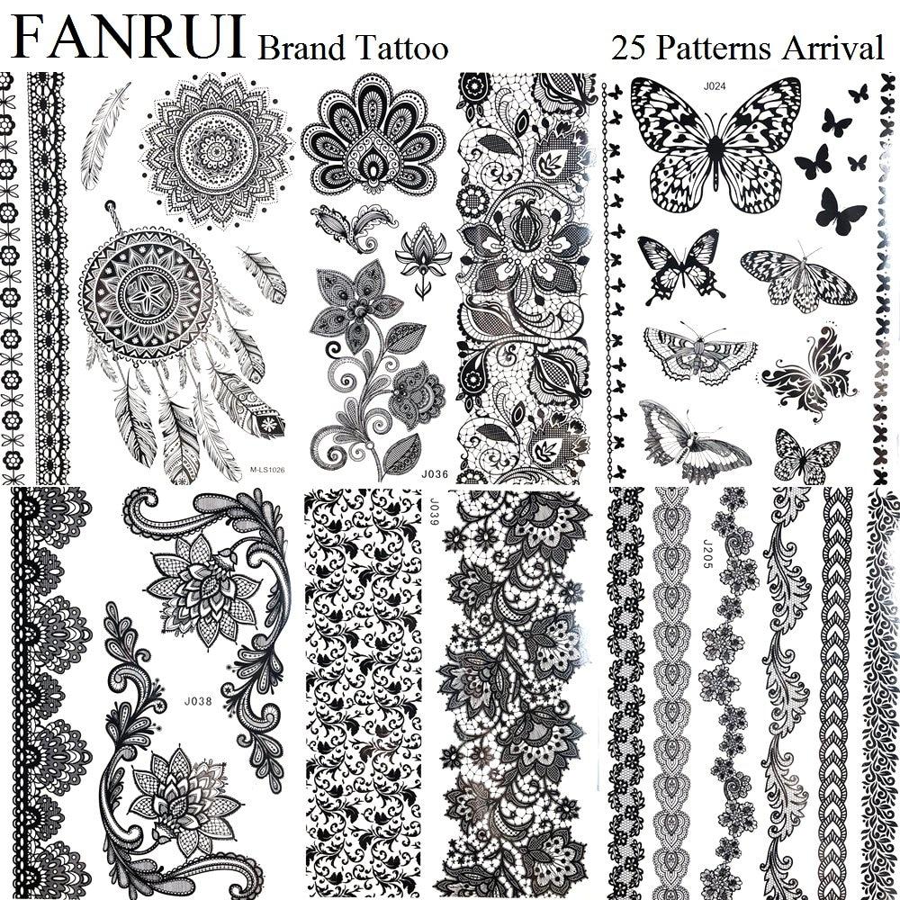 Henna Lace Bracelet Temporary Tattoo Sticker: Aliexpress.com : Buy Waterproof Black Henna Mandala Tattoo